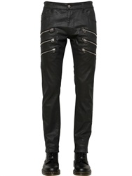 Love Moschino 15.5Cm Skinny Coated Stretch Denim Jeans