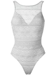 Lygia And Nanny Lace Swimsuit Grey