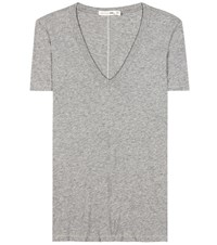 Rag And Bone The Vee Cotton T Shirt Grey