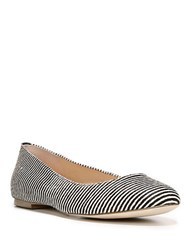 Dr. Scholl's Vixen Striped Calf Hair Flats Black
