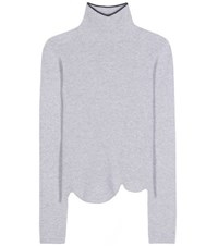 Marni Virgin Wool And Angora Blend Turtleneck Sweater Grey