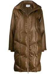 Vince Quilted Puffer Coat Brown