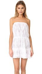 Milly Crochet Becca Cover Up White