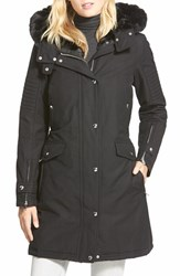 Women's 1 Madison Water Repellent Hooded Coat With Faux Fur Lining