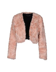 Marco Bologna Coats And Jackets Faux Furs Pink