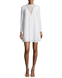 A.L.C. Allie Long Sleeve Crepe Shift Dress White Size 12