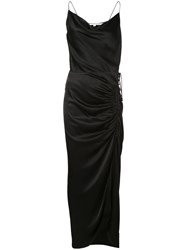 Veronica Beard Draped Design Dress Black
