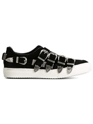 Toga Pulla Buckled Slip On Sneakers Black