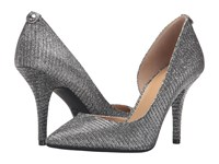 Michael Michael Kors Nathalie Flex High Pump Black Silver Glitter Chain Mesh Women's Shoes