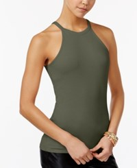 Planet Gold Juniors' Racerback Tank Top Martini Olive