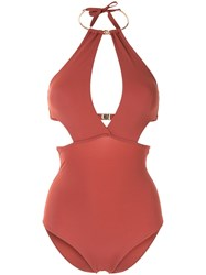 Moeva Leslie Cutout Swimsuit Red