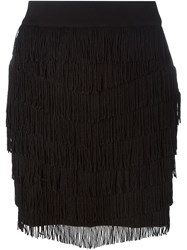 Diesel Mini Fringe Skirt Black