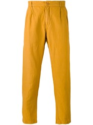Etudes 'Archives' Trousers Men Cotton Linen Flax 46 Yellow Orange