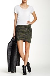 Pam And Gela Ruched Mini Skirt Green