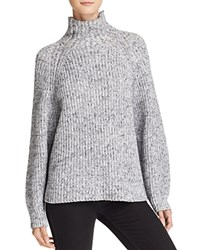 Alexander Wang T By Marled Turtleneck Sweater Black And White