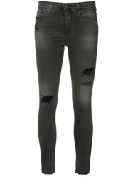 Ag Jeans Ripped Super Skinny Black