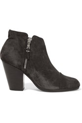 Rag And Bone Margot Suede Ankle Boots Charcoal