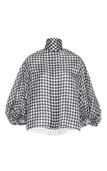 Dice Kayek Mock Neck Check Shirt Print