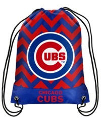 Forever Collectibles Chicago Cubs Chevron Drawstring Backpack