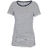 Fat Face Crew Striped T Shirt Taupe