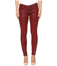 Ag Adriano Goldschmied Leggings Ankle In Crackle Ruby Rouge Crackle Ruby Rouge Women's Jeans Red