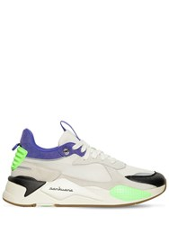 Puma Select Rs X Sankuanz Leather And Mesh Sneakers Beige