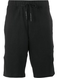 Y 3 Cotton Logo Jersey Shorts Black