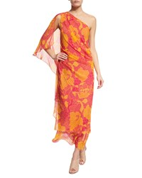 Diane Von Furstenberg Nori Flower Power Silk Maxi Dress Fuchsia Women's Flower Power Fusc