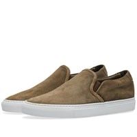 Common Projects Slip On Waxed Suede Green