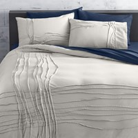 Cb2 Twisted Silver Grey Full Queen Duvet