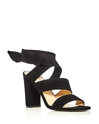 Ivanka Trump Kiffie Ankle Tie High Heel Sandals Black