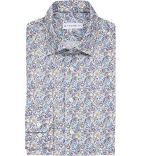 Etro Paisley Print Slim Fit Cotton Shirt Multi