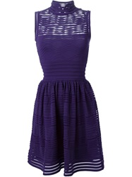M Missoni Sheer Crochet Dress Pink And Purple