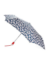 Totes Indigo Floral Automatic Umbrella Blue