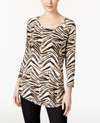 Jm Collection Animal Print Top Only At Macy's Animal Journey
