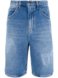 J.W.Anderson Washed Denim Shorts Blue