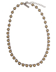 Rachel Zoe Stone Collar Necklace Two Tone