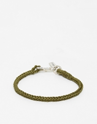 Jack Wills Plaited Cotton Bracelet Green