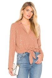 Bcbgeneration Tie Front Star Top Mauve