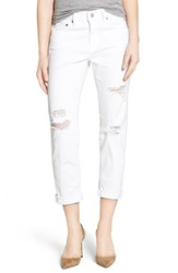 Ag Jeans Women's 'The Ex Boyfriend' Crop Slim 1 Year Busted White