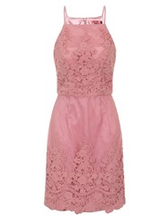 Chi Chi London Embroidered Bodycon Dress Pink