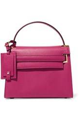 Valentino My Rockstud Small Textured Leather Tote Pink