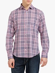 Eden Park Cotton Check Shirt Pink Navy