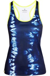 Monreal London Essential Printed Stretch Jersey Tank Navy