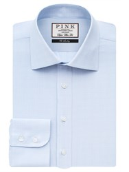 Thomas Pink Men's Ward Check Super Slim Fit Bc Blue