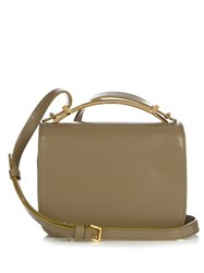 Marni Sculpture Leather Cross Body Bag Khaki