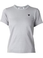 Comme Des Garcons Play Mini Heart Print T Shirt Grey