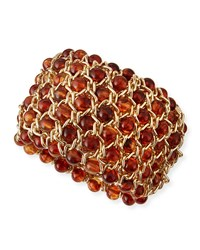 Jules Smith Designs Beaded Chain Stretch Bracelet Amber Jules Smith