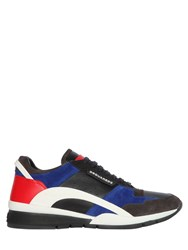 Dsquared Leather And Suede Low Sneakers