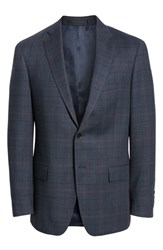 Hart Schaffner Marx Classic Fit Stretch Plaid Wool Sport Coat